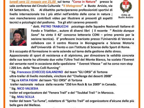 """Conferenza """"Corsa in Natura"""" 11 maggio"""