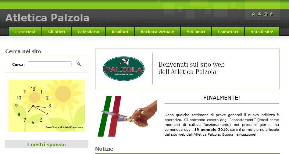 On line il  sito: www.atleticapalzola.com