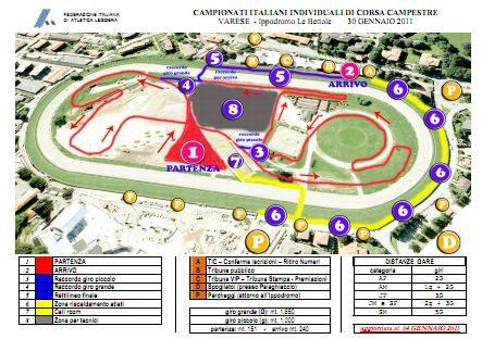 Camp. Italiani Varese – Orari e Percorso