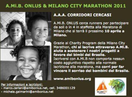 Corri la Milano City Marathon con A.Mi.B