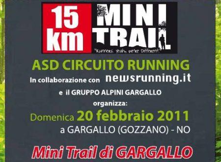 20 febbraio 2011 – Mini Trail di Gargallo (NO)