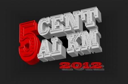 Logo 5 cent al km 2012