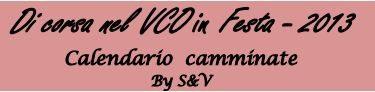 Di Corsa nel VCO in Festa 2013 – Calendario