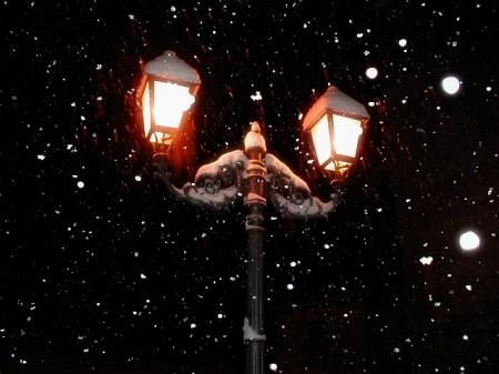 Neve nella notte