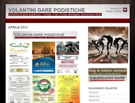 Volantini gare sito internet