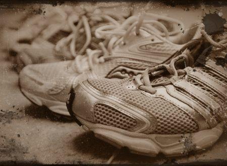 Scarpe usate per il Centro Salute Mentale