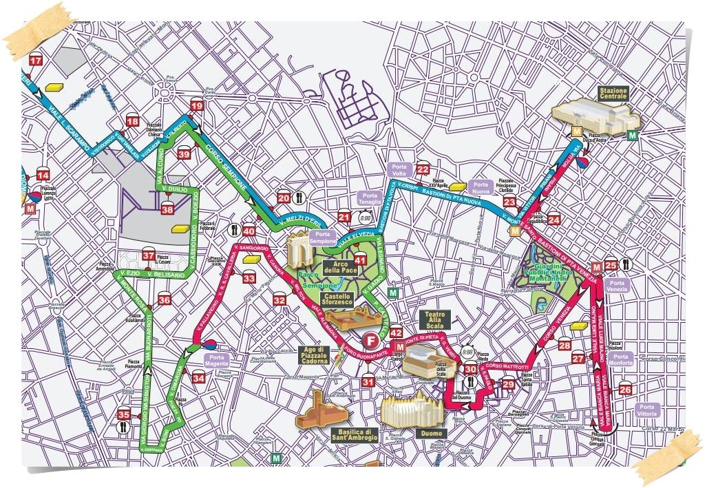 percorso milano marathon 2014 completo