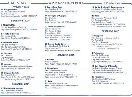 Calendario Ammazzainverno 2014 – 2015