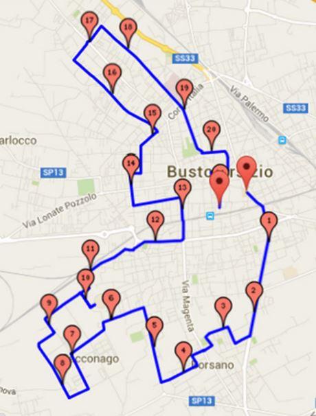 Maratonina di Busto percorso