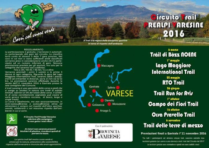 Circuito Trail Prealpi Varesine 2016 a