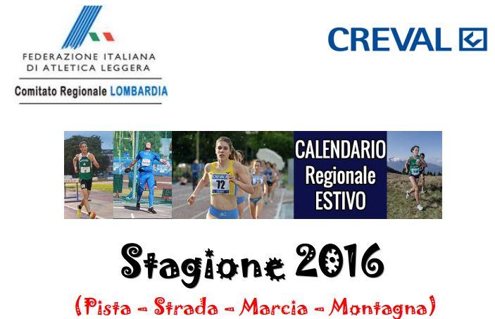 Fidal Lombardia Calendario.Calendario Fidal Lombardia Estate 2016