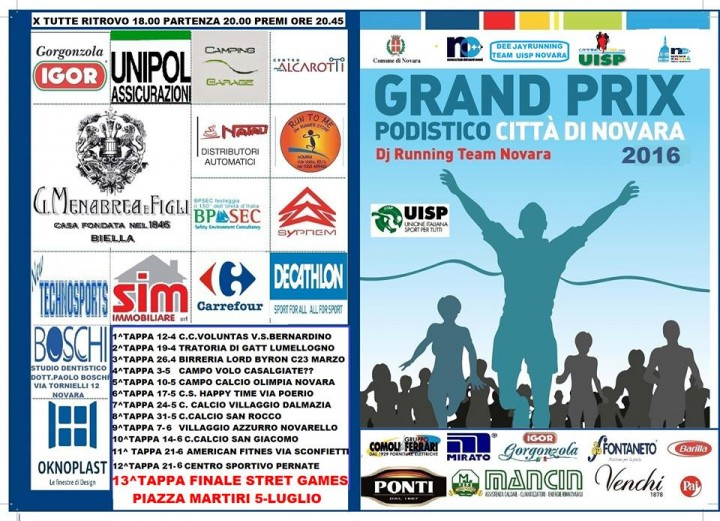 Grand prix Podistico Città di Novara 2016