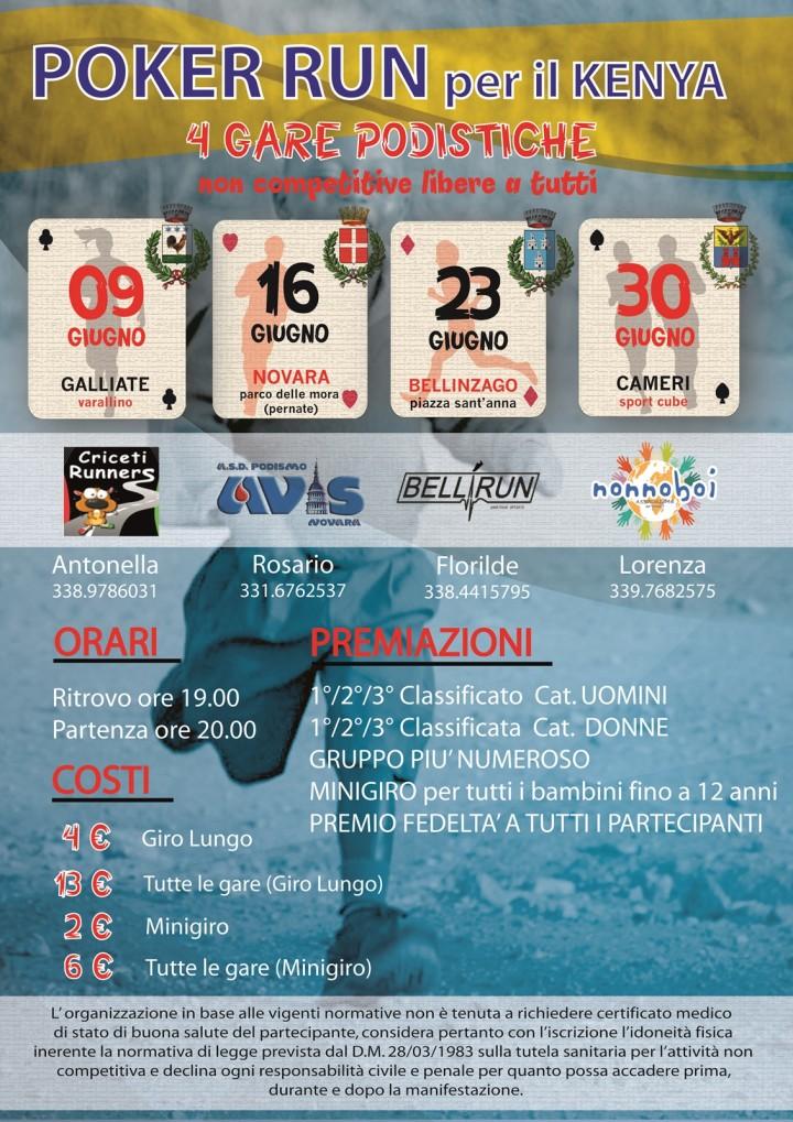 Poker Run per il Kenya volantino definitivo