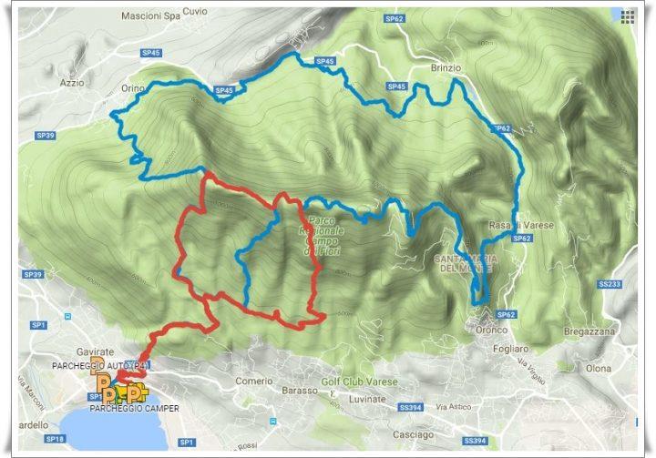 Trail Campo dei Fiori percorso 2016
