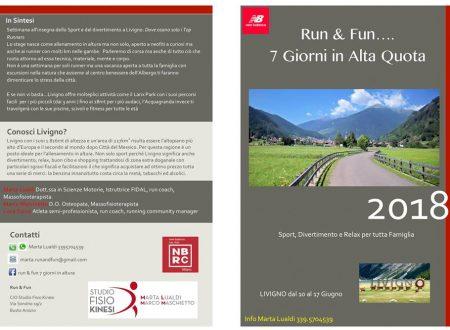 Run & Fun – Stage in altura con Marta Lualdi e Marco Maschietto