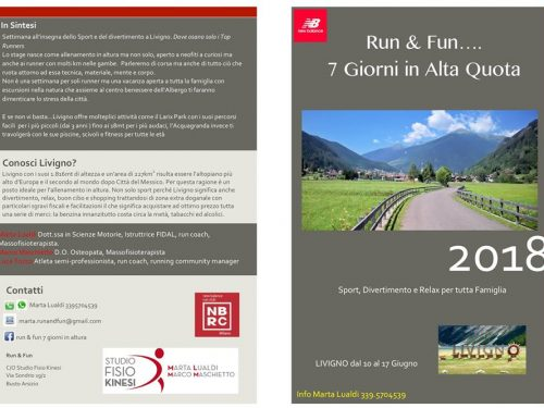 Run & Fun – Stage in altura con Marta Lualdi e Marco Maschietto