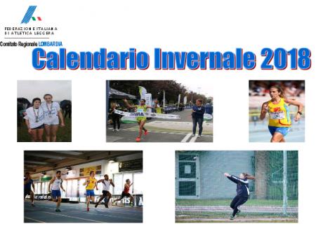 Calendario Invernale Fidal Lombardia 2018