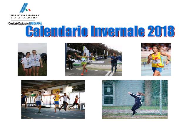 Fidal Lombardia Calendario.Calendario Invernale Fidal Lombardia 2018