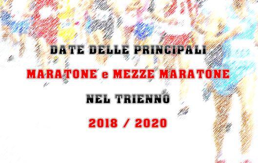 Calendario Mezze Maratone 2020 Italia.Le Date 2018 2020 Delle Principali Maratone E Mezze