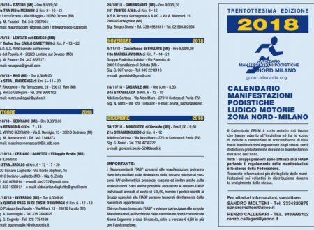 Gruppo Podistico Nord Milano – Calendario 2018