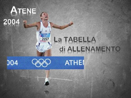 La tabella di allenamento di Stefano Baldini per l'Oro di Atene 2004
