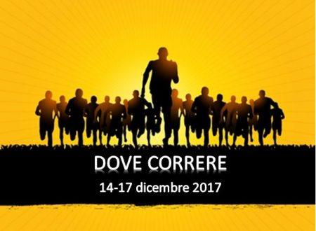 Dove correre dal 14 al 17 dicembre 2017