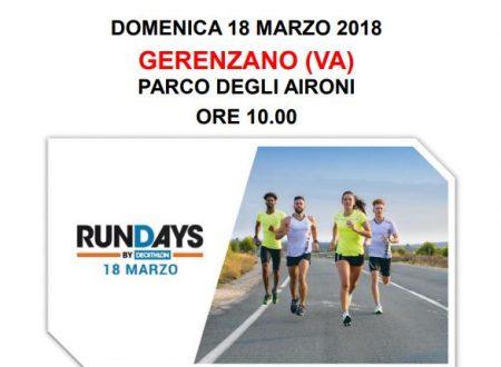 RunDays Decathlon 18 marzo 2018 a Gerenzano (VA)