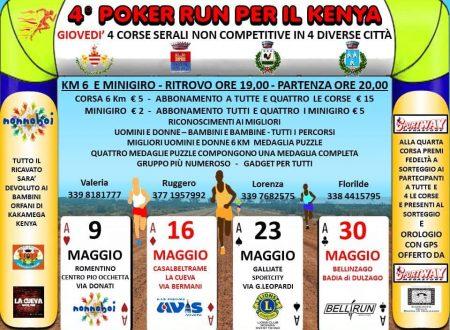 4° Poker Run per il Kenya 2019