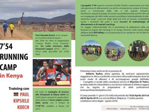 7'54 Running Camp in Kenya – Aprile 2019