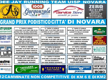 Grand Prix Podistico Città di Novara 2019