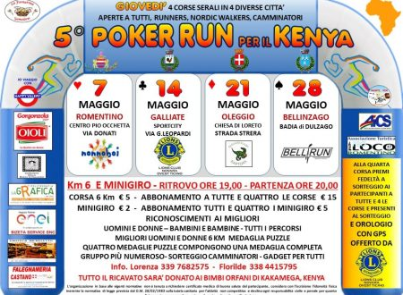 5° poker Run per il Kenya 2020